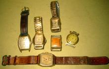 Lot of 6 Men's Vintage Watches