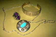 Three Pieces of Sterling Jewelry