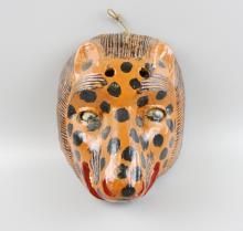 Hand Carved Leopard Mask