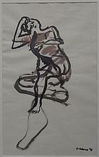 Joe Reno (b.1943) Egg Tempera/ Ink on Paper