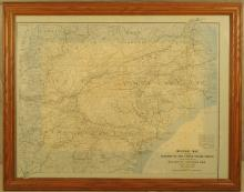 Map of Sherman's Marches 1863,64,65