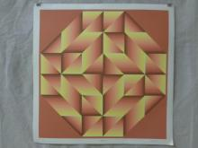 Jurgen Peters Op-Art Serigraph