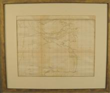 1815 Map of East India Ship Passage