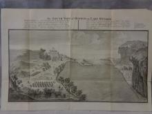 Antique Map/ View of Fort & Lake Ontario