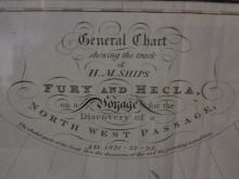 1824 Ships' Itinerary Map--Northwest Passage