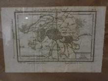 Antique Book Map of Paris