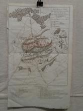 Antique Map of Napoleonic Battle Mont St. Jean