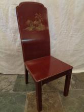 Chinoisserie Red Lacquer Chair