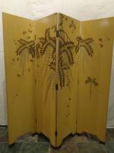 Leather Chinese Coromandel Screen