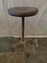 Vintage Adjustable Industrial Metal Stool