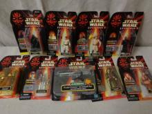 8 Star Wars Episode 1 Figures and gun