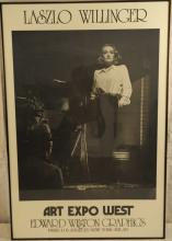 Laszlo Willinger Poster with Marlene Dietrich
