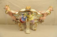 Antique Porcelain Center Piece Bowl