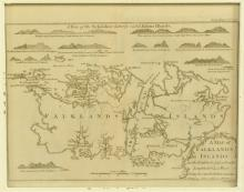Antique Map of the Falkland Islands