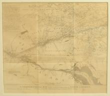 Antique Map of U.S and Canadian Border