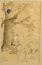Jo Gene Kepell Ink Drawing