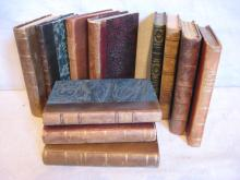Antique leather books in French