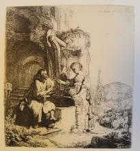 Rembrandt Van Rijn, 17c. Etching, Drypoint