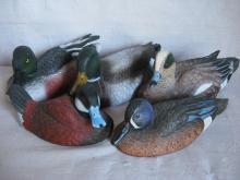 5 Resin Duck Decoys