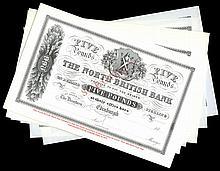 Scottish Paper Money From Various Properties
