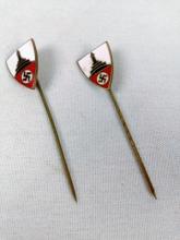 2 WWII Nazi Stick Pins