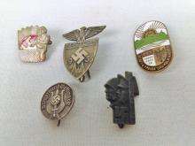 4 Various WWII Nazi Pins