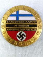 WWII Nazi Enamel Finland Pin