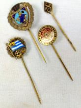 4 WWII Nazi Stick Pins