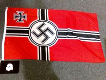 Two Repro Nazi Flag and Pennant