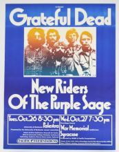 Grateful Dead & NRPS War Memorial Poster, 1971