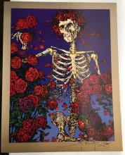 Skeleton and Roses Poster, signed by Mouse