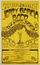 Jerry Garcia Band Electric on the Eel French's Camp Poster