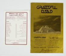 Grateful Dead Egypt Program, Signed by Jerry, 1978