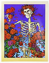 Skeleton and Roses Poster, Stanley Mouse, Signed