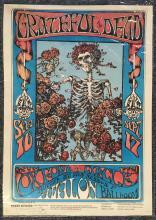 Grateful Dead 1ST Print 1966 FD-26 Skeleton Signed