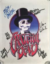 Grateful Dead Skeleton and Top Hat Pelon, Signed