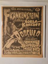 Griffin Frankenstein/ Boris Karloff Movie Handbill