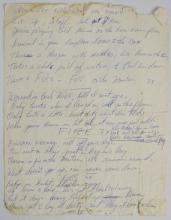 MICKEY HART HAND WRITTEN _FIRE ON THE MOUNTAIN_