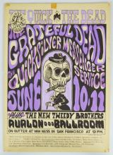 Grateful Dead Quick and the Dead Hand Painted Day Glo Purple Poster