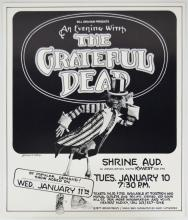 Grateful Dead Shrine Auditorium Concert Poster