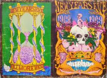Grateful Dead BG 152-153 NYE 1968 Uncut Proof