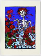 _The_ classic Stanley Mouse 1966 Grateful Dead A/P signed Skeleton & Roses FD-26 print