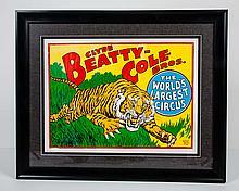 Clyde Beatty - Cole Bros. Circus Poster