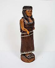 Wooden Cigar Indian