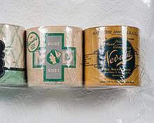 Three Vintage Rolls Toilet Paper