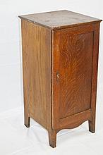 Edison Oak 75 Cylinder Upright Storage Cabinet