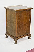 Columbia Tiger Oak Single Door Record Cabinet
