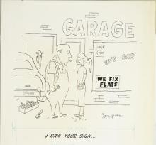 Fling Magazine 1950s Line art Cartoon by