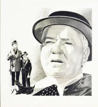 Fling Movie Star Illustration of W.C. Fields