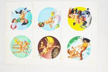 6 Fling Magazine 1990s Airbrush original cartoons